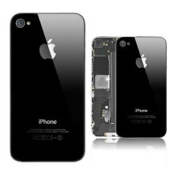 AT&T iPhone 4S Glass Back Cover - Black (OEM)